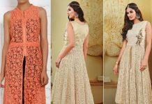 latest designer net kurtas designs for women