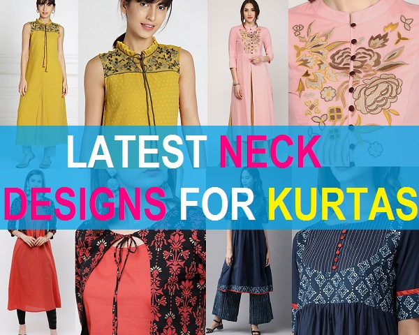 latest neck designs for kurtas