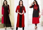 9 Latest Black and Red Kurti Designs