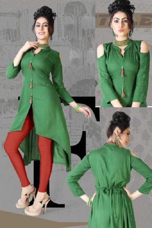 cold shoulder kurta for women 4