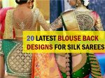 20 Latest Blouse Back Neck Designs for Pattu Silk Sarees