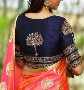 Multiple Border Silk Saree Blouse