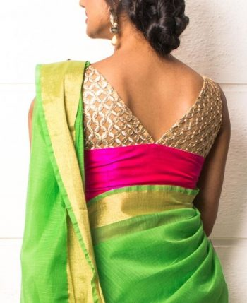Cutwork Latest Blouse for Pattu Saree