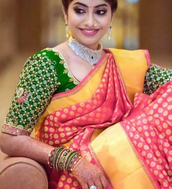 Green Maggam Work Pattu Saree Blouse Pattern
