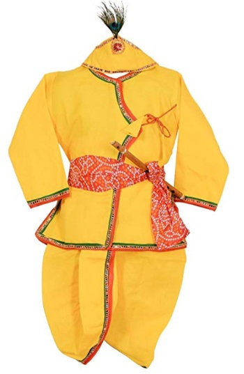 Ahhaaaa Yellow Krishna Dress Dhoti Kurta For Baby Boys