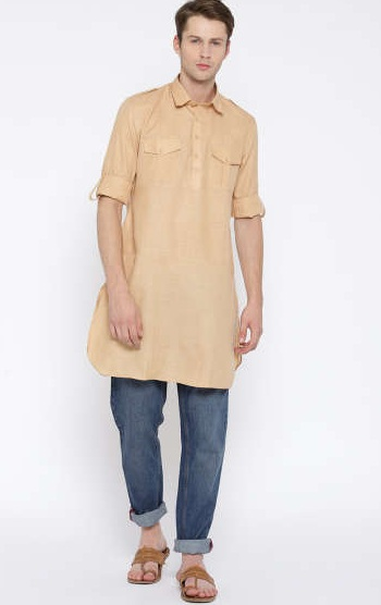 Fashionable Pathani Kurta with Jeans