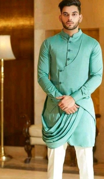 Green Pathani Kurta