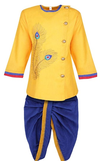 Kids Ethnic Festive Cotton Kurta and Dhoti Pant Set for Baby boys