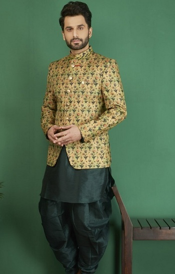 Mens Kurta Pajama Design in Green