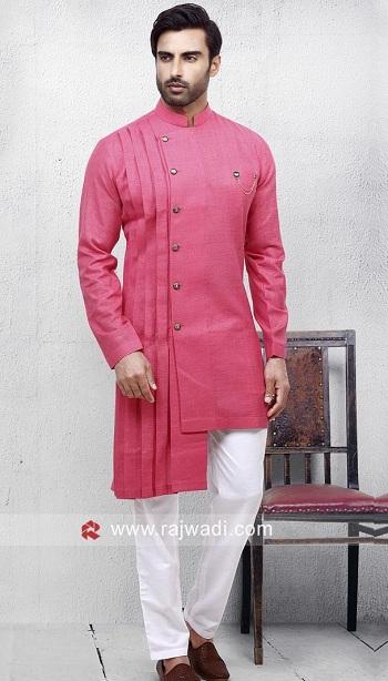 Pink Pathani Kurta