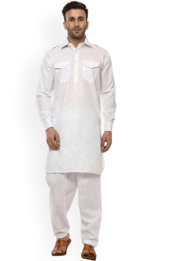 Stylish White Pathani Kurta