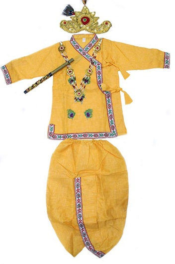 The Holy Mart Cotton Baby's Krishna Costume Dress