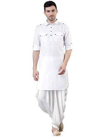 White Pathani Gents Kurta