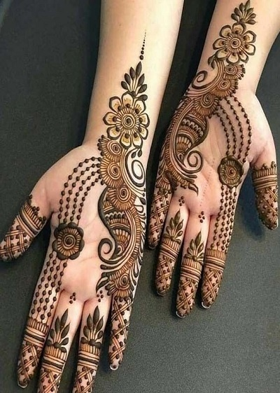 Arabic Mehndi For Full Front Hands For Eid