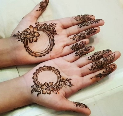 Arabic Mehndi Front Hands for Eid