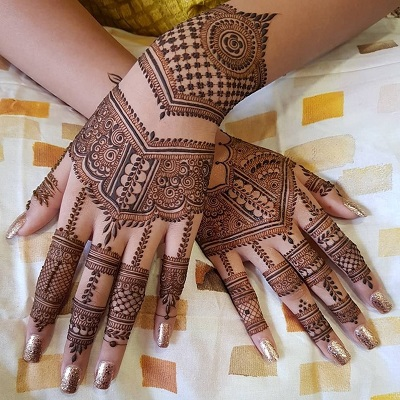 Back Hands Bridal Arabic Mehndi Design