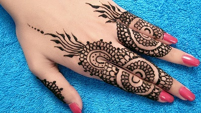 Eid Mehndi Design For Back Hand Fingers
