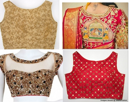 Latest Boat Neck Blouse Designs