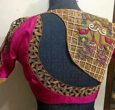 Latest hand work blouse design