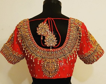 Maggam stone work blouse
