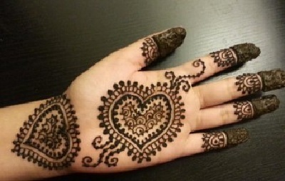 Simple Eid Mehandi Design Full Hand