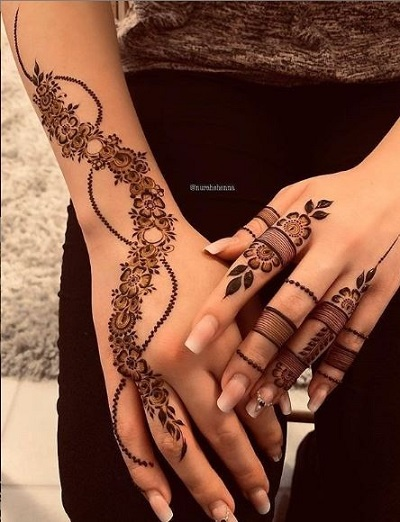 Tattoo Like Ramzan Modern Mehndi Design