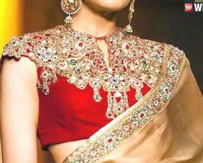 fancy Wedding blouse design