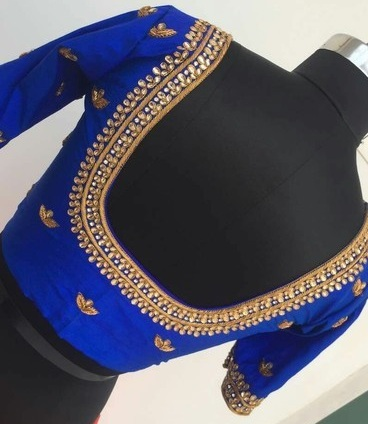 hand work maggam blouse design