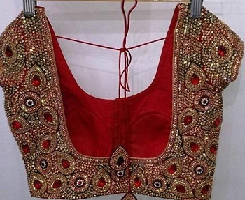 heavy maggam work blouse
