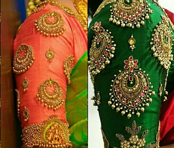 jewellery style maggam blouse