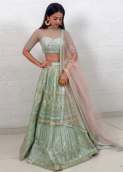 sheer fabric blouse for lehenga