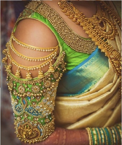 Bridal Pattu Saree Blouse Design