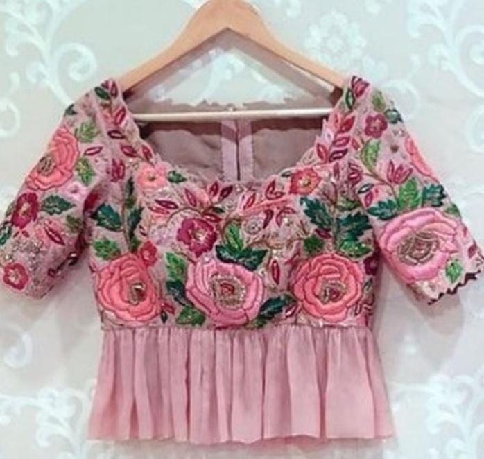 Peplum style designer blouse