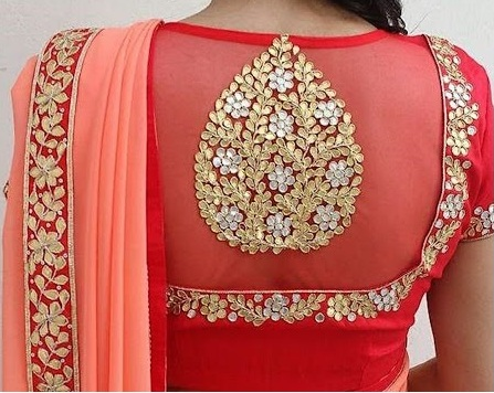 back neck design for Brides