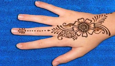 backhand flower gujarati mehndi design