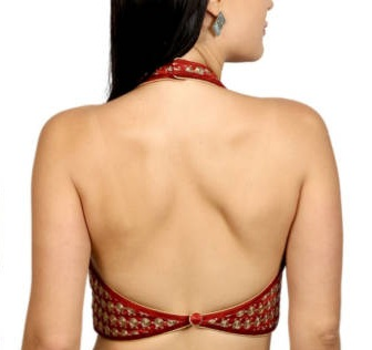 halter neck backless blouse pattern