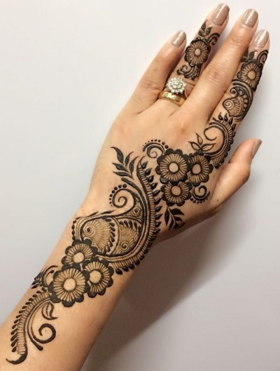 simple eid mehndi design for hands