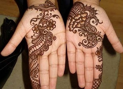 simple rajasthani mehndi design