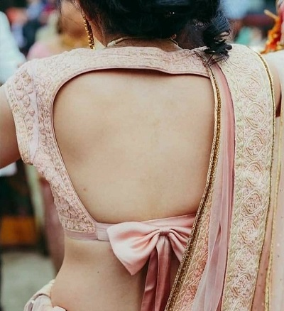 stylish backless blouse design