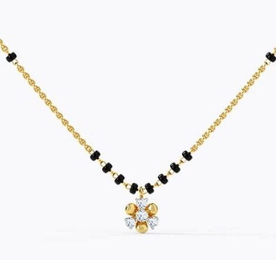 Black Beads Mangalsutra For Daily Wear
