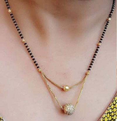 Centre Double Chain Mangalsutra Pattern for Daily Use