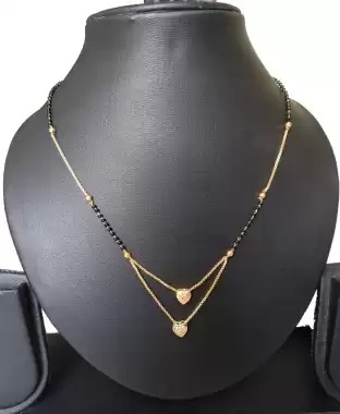 Gold Mangalsutra In Double layered pattern