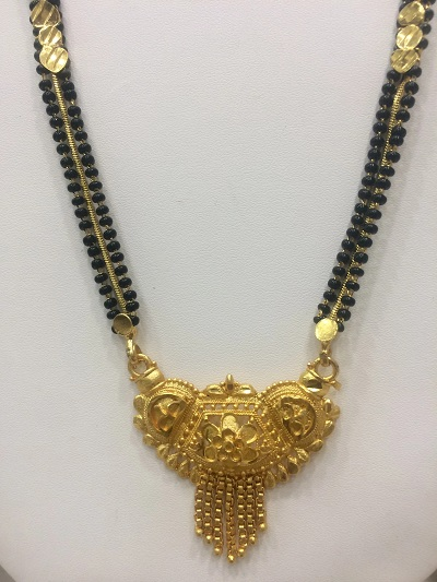 Heavy Gold Only Double Chain Mangalsutra