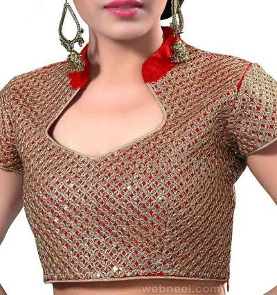 Heavy Half Chinese neck Blouse Pattern