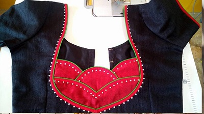 New saree blouse patch work design