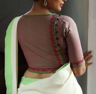 Stylish Back Design for Cotton Blouse