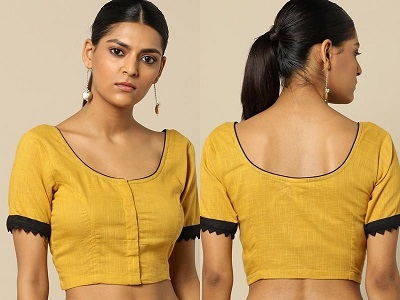 Yellow Cotton Blouse for Daily wear