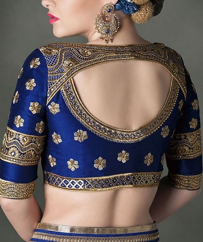 Latest Patch Work Blouse for Silk Sarees