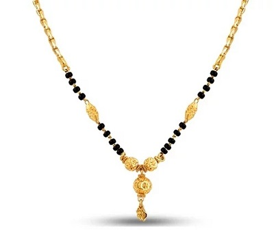 Beaded style of gold mangalsutra design
