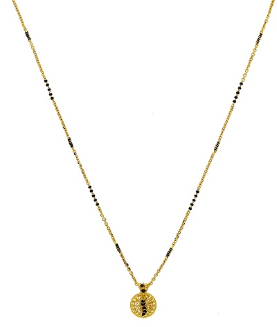 Delicate style of 22 kt mangalsutra